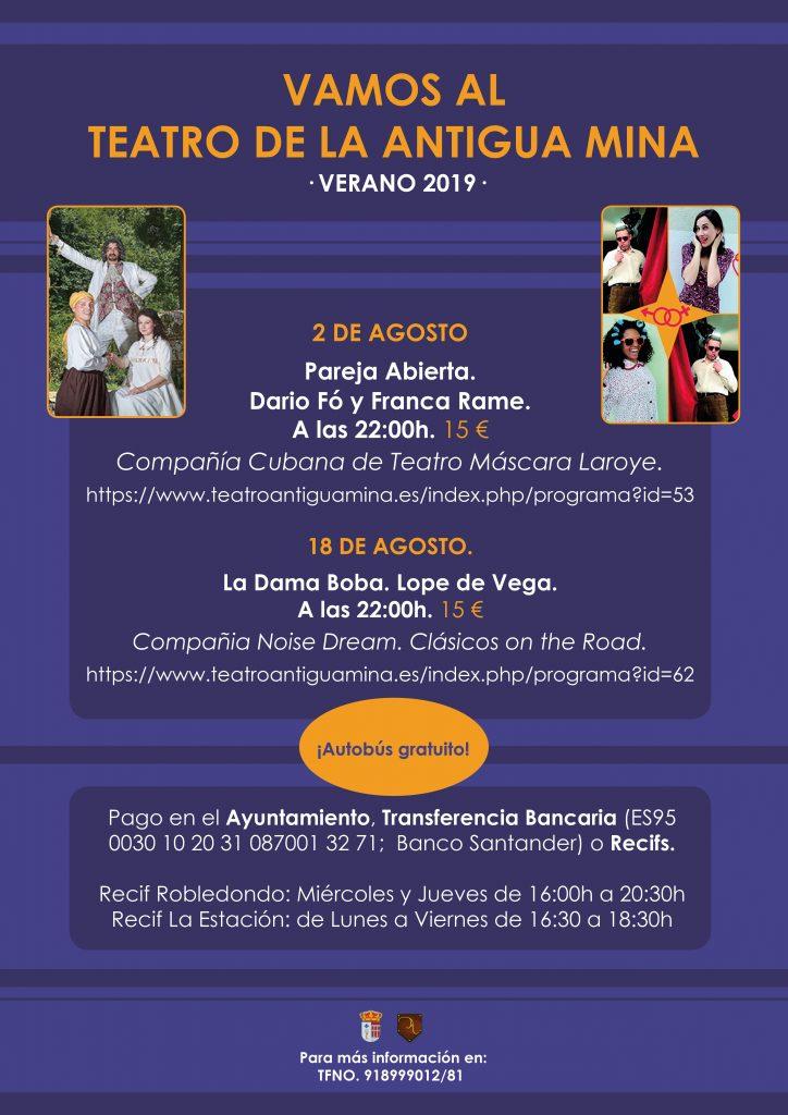 Teatro de la Antigua Mina - Pareja Abierta @ Teatro de la Antigua Mina | Santa María de la Alameda | Comunidad de Madrid | España