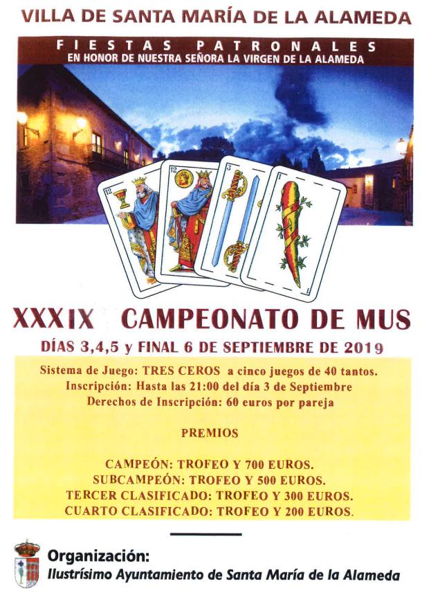 Campeonato de Mus @ Santa María de la Alameda