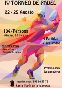 IV Torneo de Padel @ Polideportivo Santa María de la Alameda | Santa María de la Alameda | Comunidad de Madrid | España