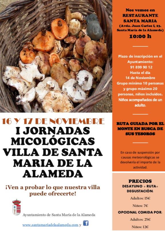 I Jornada Micológica @ Restaurante Santa María | Santa María de la Alameda | Comunidad de Madrid | España