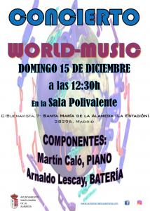 Concierto World Music @ Sala Polivalente | Santa María de la Alameda | Comunidad de Madrid | España