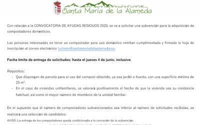 Convocatorias de Ayudas Residuos 2020