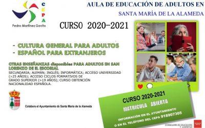 Aula de Educación de Adultos 2020/2021